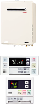 Rinnai RUF-A2405AW(A) + マルチリモコン MBC-120V(浴室・台所リモコン)